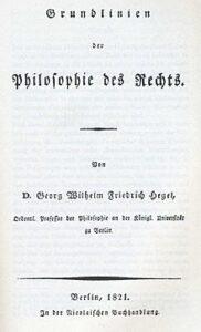 Georg Hegel: Grundlinien des Rechts